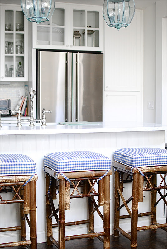 When I Wrote About Wanting New Barstools And Told Ya Ll How Much Loved The Shape Upholstered Cushions Of These Pretty Stools