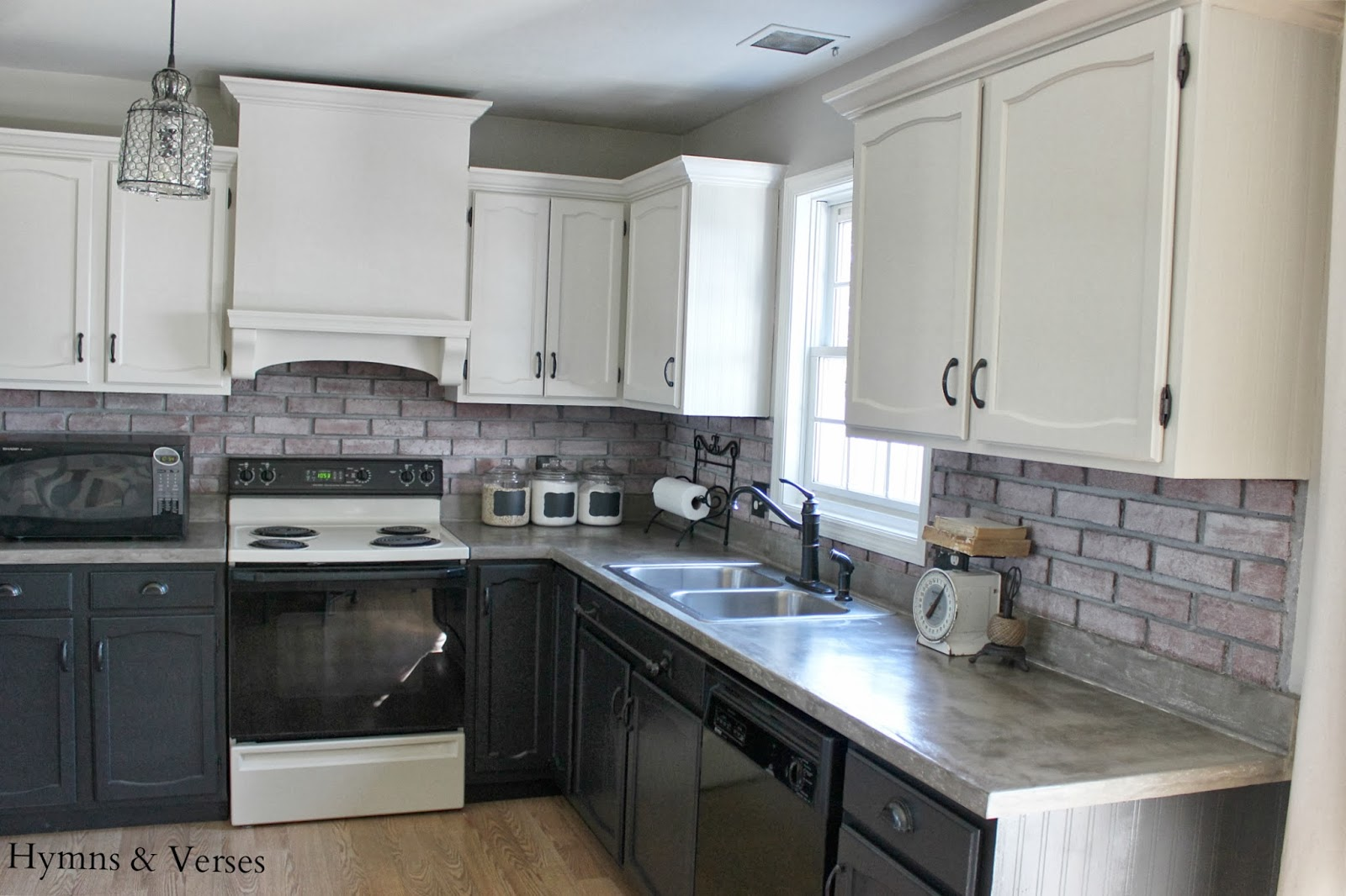 Gray lower kitchen cabinets for Charcoal painted kitchen cabinets