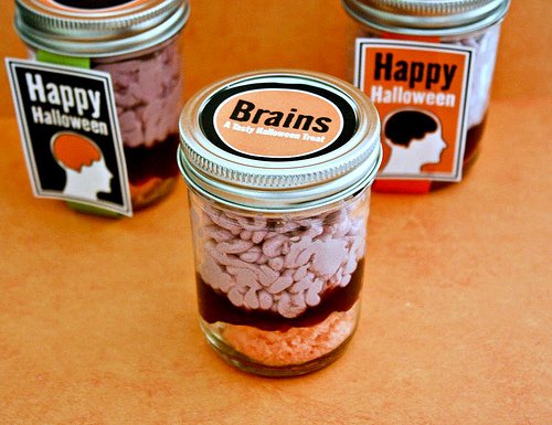 Zombie Party Brains In A Jar