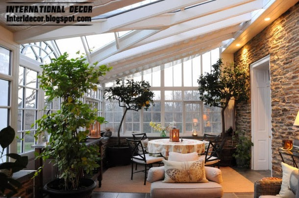 winter garden decorating ideas and trends, stone