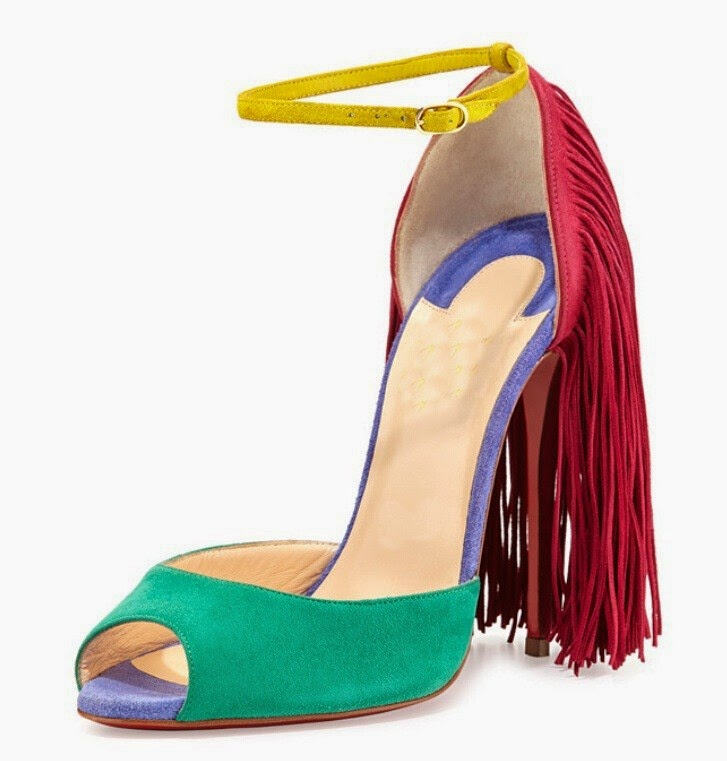 44e607ca955 Newest fashion Cheap christian louboutin mixed-color peep toe christianity  shoes tassel red sole stilettos outlet uk,christian louboutin is usually a  ...