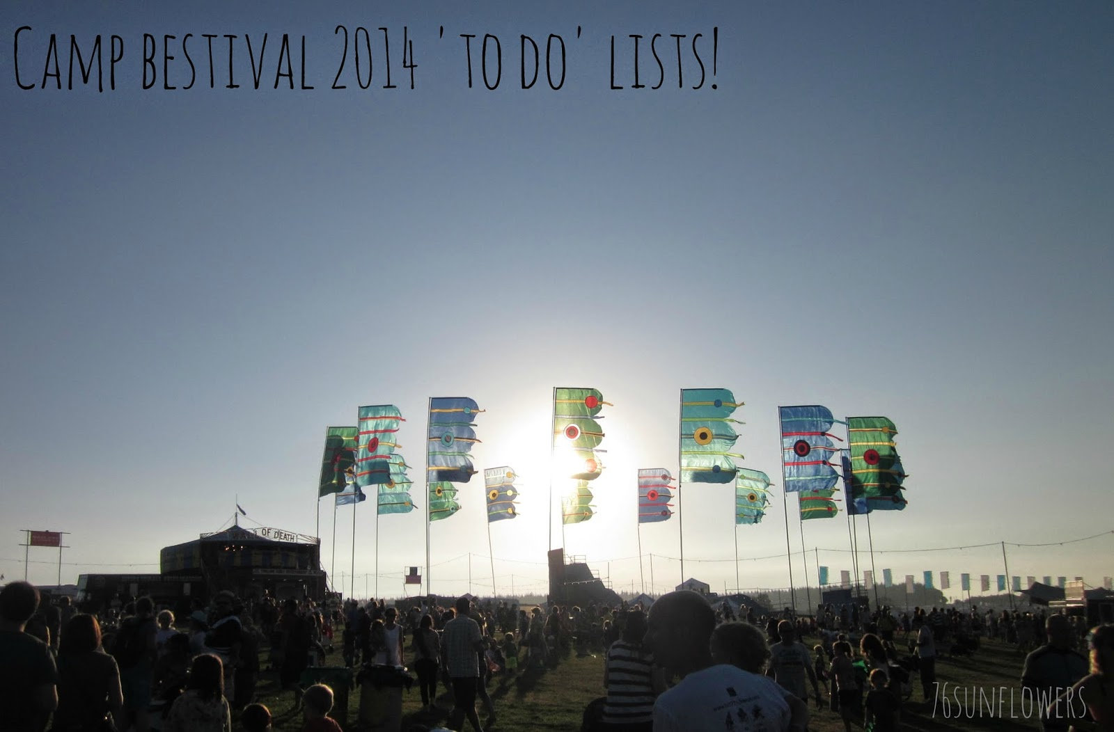 Camp Bestival 2014 'To do' lists! // 76sunflowers