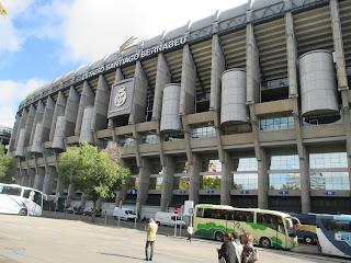 Vista Externa do Estádio Santiago Bernabeu em Madrid