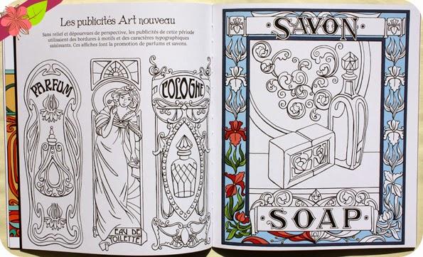 Motifs Art nouveau à colorier aux éditions Usborne
