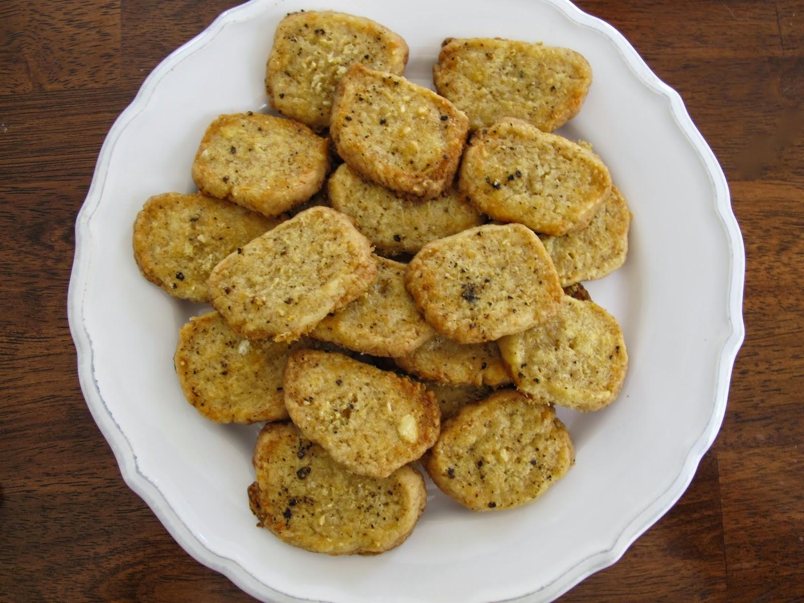 Parmesan Black Pepper Crackers