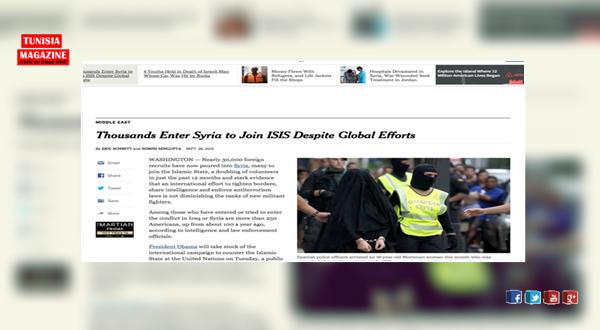 أوباما : تضاعف عدد الاعرهابيين و تونس تحتل الصدارة ب7500 مقاتل في سوريا  و العراق