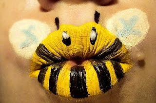 Honey Bee Painting On Lips!