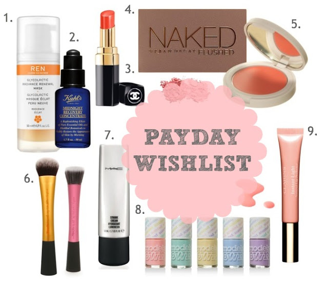 Pay Day Wishlist, Beauty Wishlist, UK Beauty Blog, Things I want, Pay Day Beauty Buys