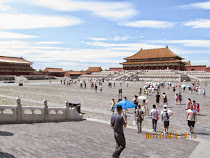 The massive outer court of The Forbidden City (former Imperial Palace), Beijing, China