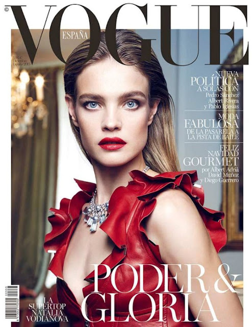 Actress, Model, @ Natalia Vodianova by Nico Bustos for Vogue Spain, December 2015