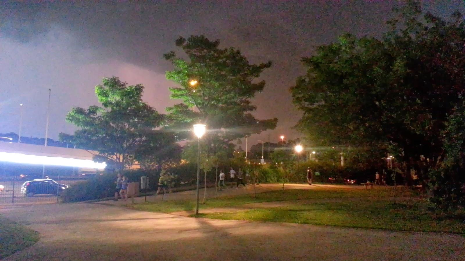 Parque do povo, treino noturno