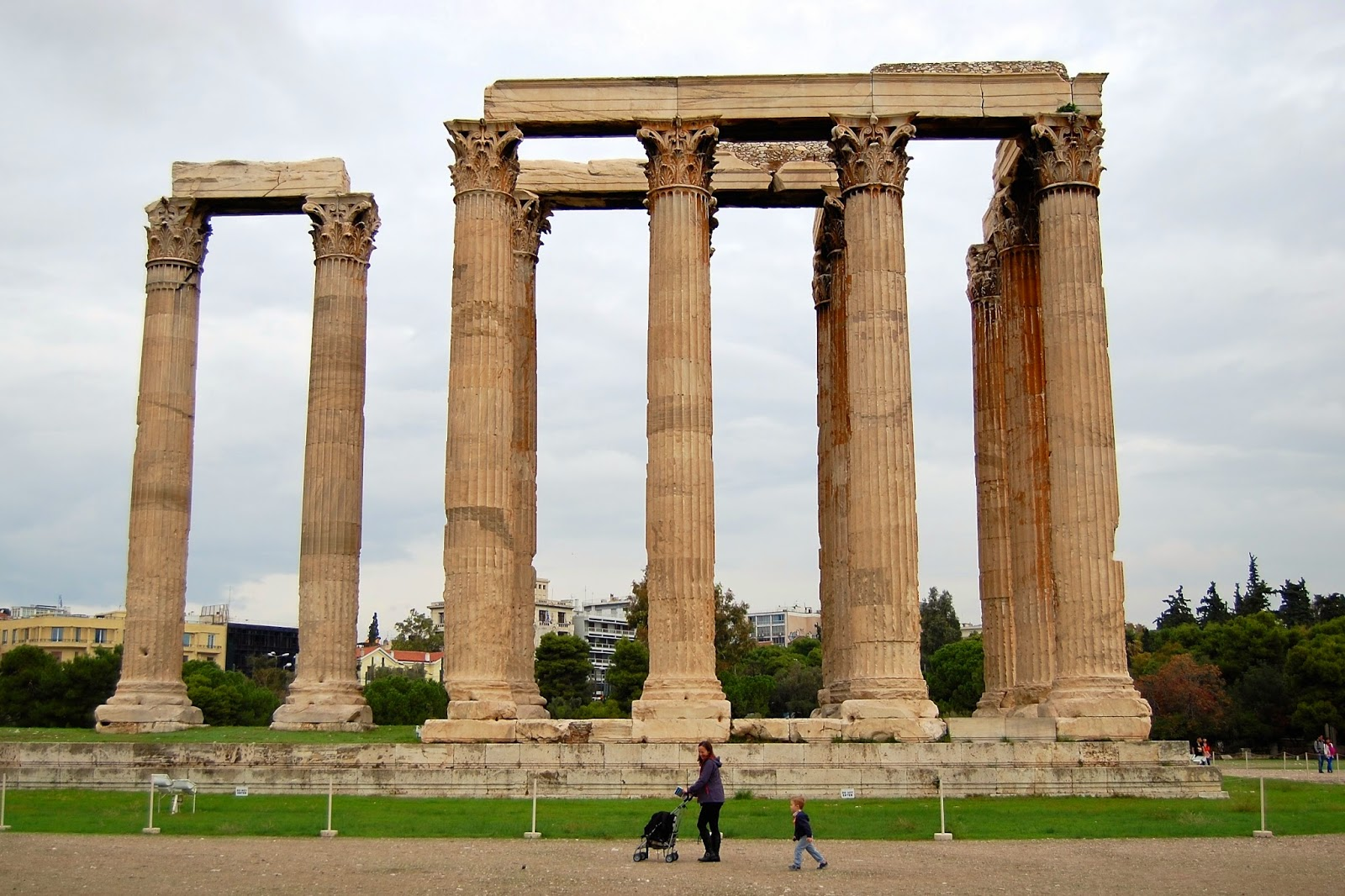 Temple columns are 56 feet high