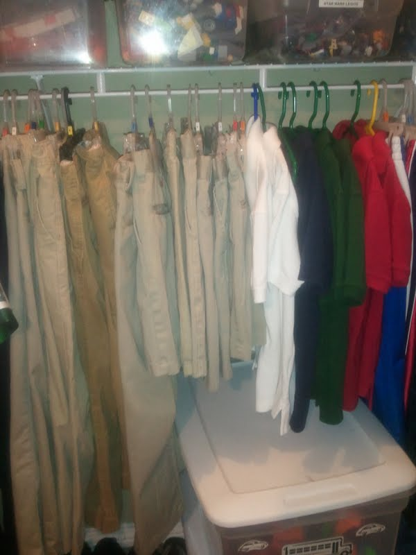 Additionally, Short Sleeve Shirts Go Together, As Do Blue Jeans,  Button Downs, Jackets And Sweatshirts, Etc. I Established A System In My  Kidsu0027 Closets ...