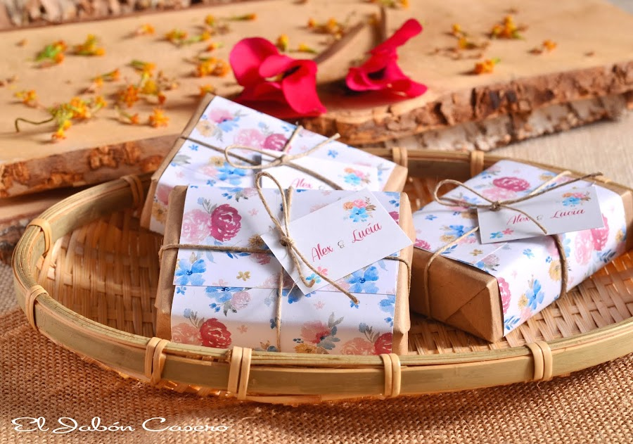 detalles de boda jabones rusticos romanticos