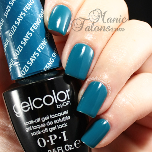 OPI GelColor Suzi Says Feng Shui Swatch, gel polish, soak off gel