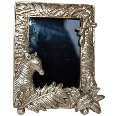 Wood Handicraft : Horse Head Photo Frame : White Metal Photo Frames