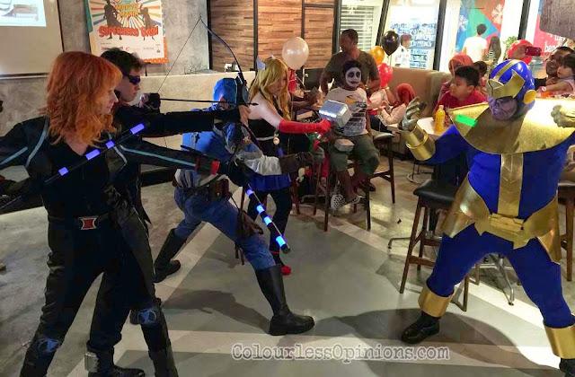 TGV Superhero Bash avengers cosplayers thanos