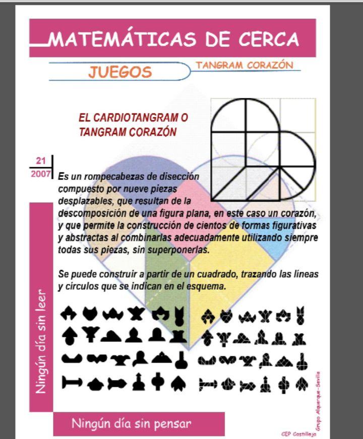 Matejuegos: Tangram corazón