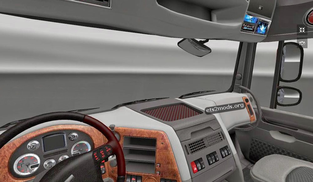 Heavy metal interior for daf xf scs ets2 mods for Scs interiors