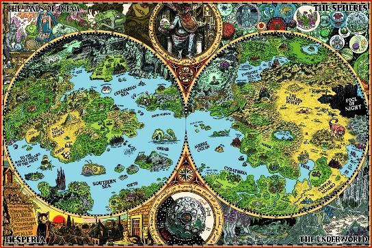Mappa delle Dreamlands