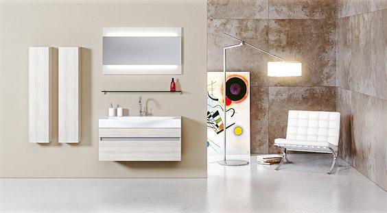 Сантехника на фото: мебель Aqwella Bergamo для ванной комнаты