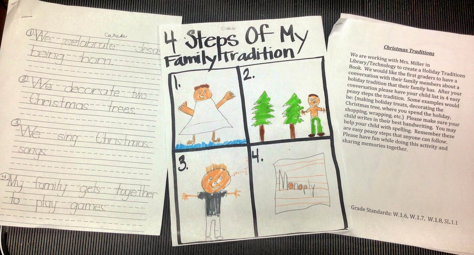 the library voice our first graders share their holiday family  our first graders share their holiday family traditions writing drawing and technology