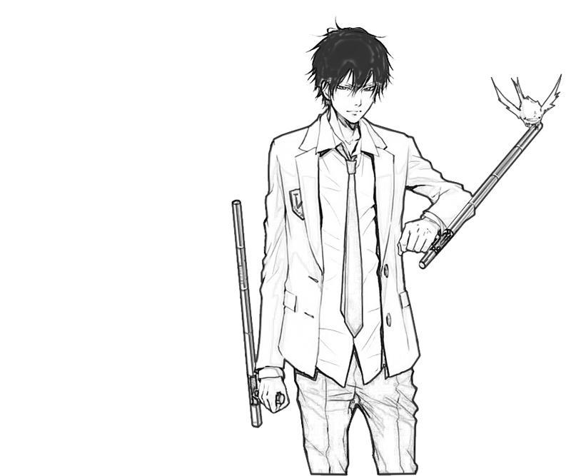 kyoya-hibari-weapon-coloring-pages