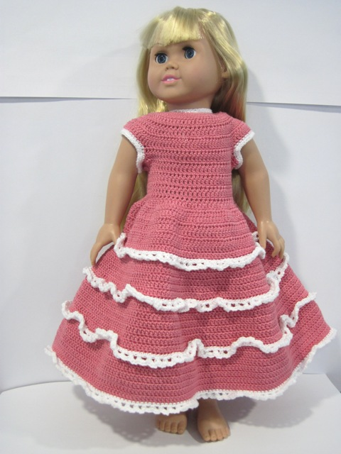Free Crochet Ruffle Dress Patterns : Krafting Kreations: Crochet Dainty Ruffles Party Dress