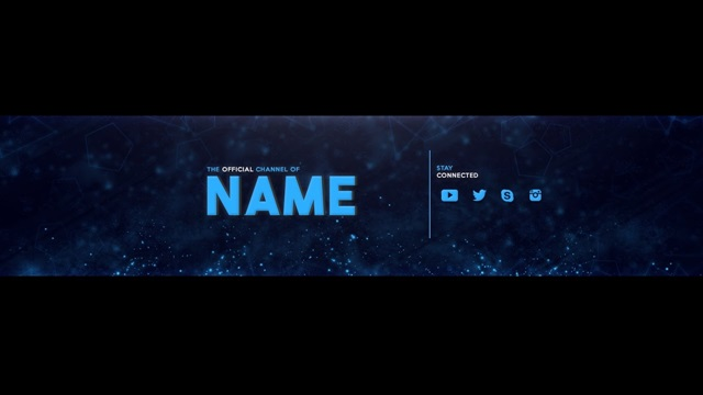 Youtube Channel Art/Banner Template Psd Download | Tech Onn ©
