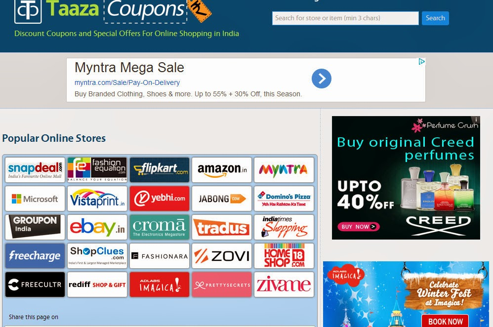 Taazacoupons the coupon site for gen next everything that for Online discount shopping sites