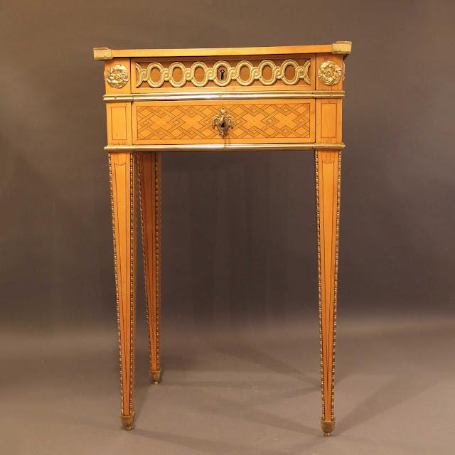 Table, circa 1775, stamped RVLC / JME