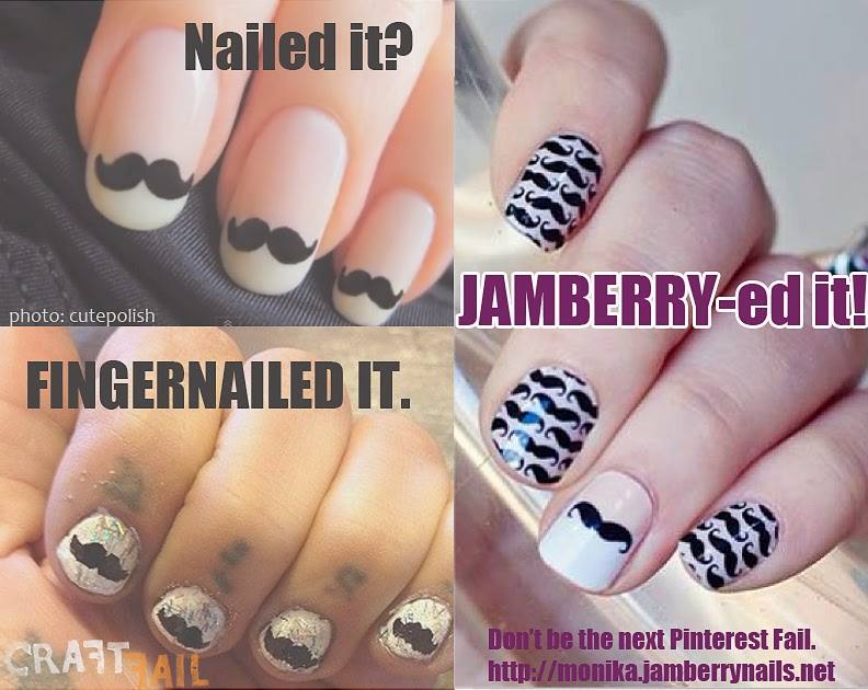Mustachioed Nails Right Here
