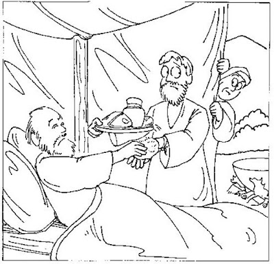 esau and jacob coloring pages - jacob and esau bible story coloring pages
