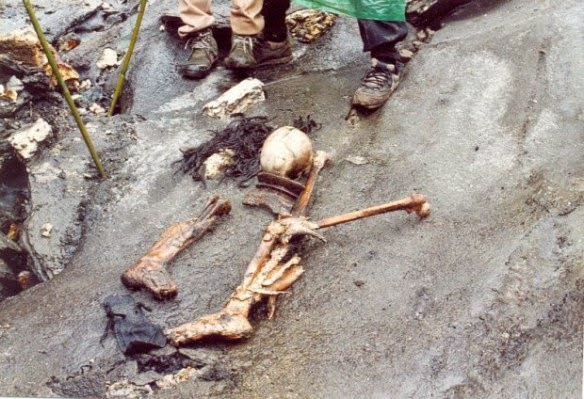 The significant amounts of soft tissue present first confused everyone. How could these skeletons be old if there was still flesh on the bones?