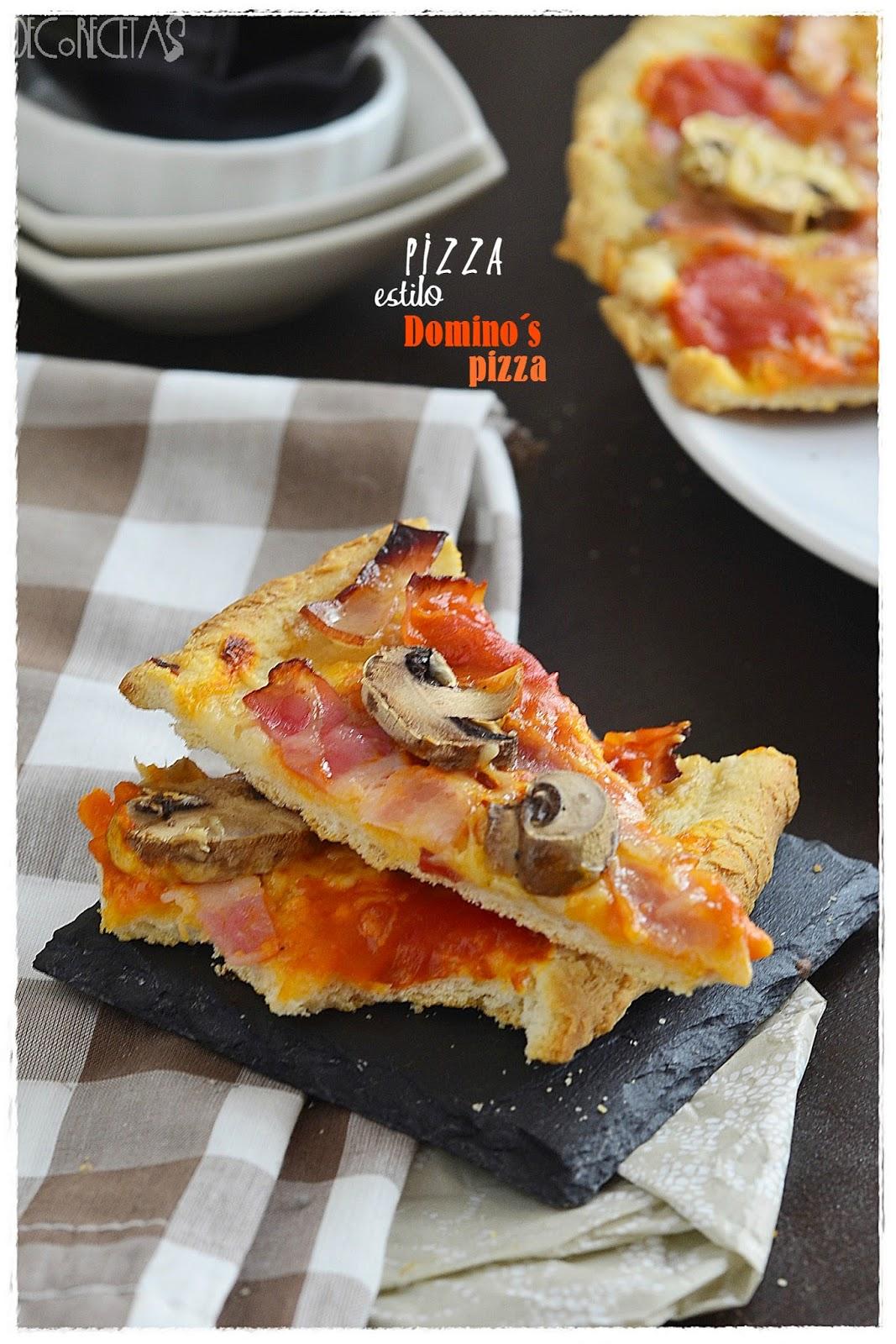 pizza estilo Domino´s Pizza