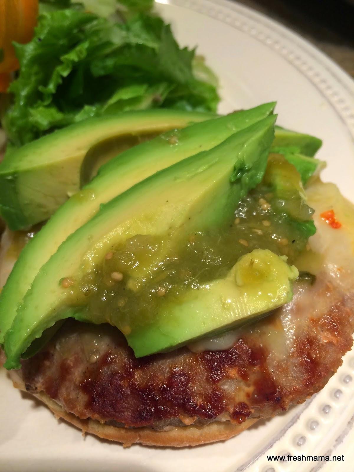 Fresh Mama Fitness and Health: Salsa Verde Turkey Burgers