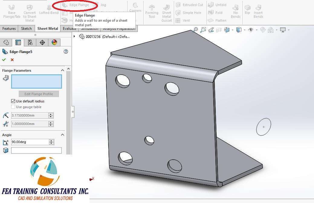 Sheet metal solidworks 2016