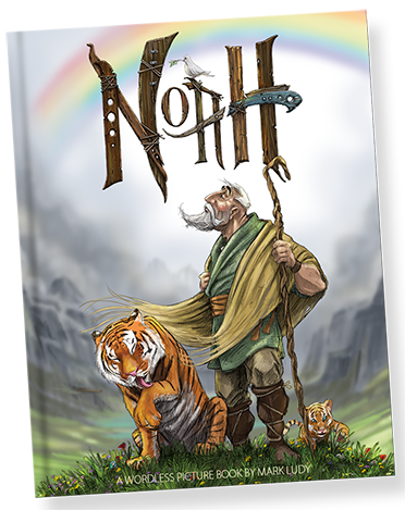 http://www.markludy.com/noah-the-wordless-picture-book/