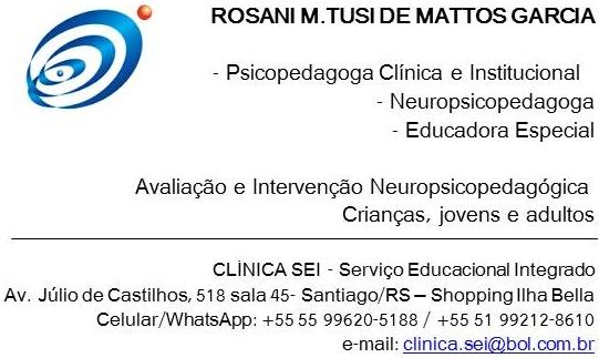 Psicopedagogia / Neuropsicopedagogia / Educação Especial...