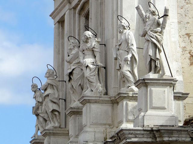 Statues of the apostles, church of Santa Maria Assunta, Cannaregio, Venice