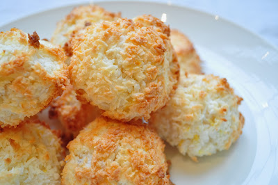 Lemon and Stem Ginger Coconut Macaroons
