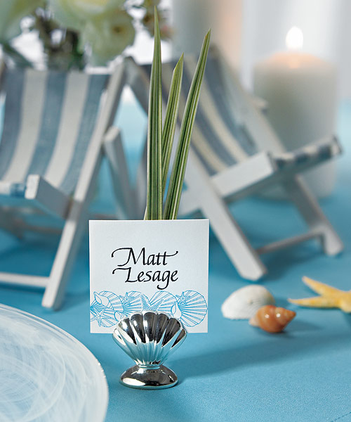 These itmes from Weddingstar are just perfect for a beach theme wedding at