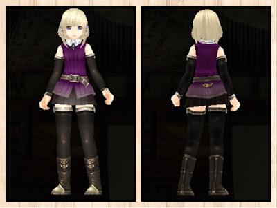 冒険者の服 紫色1 軽量化