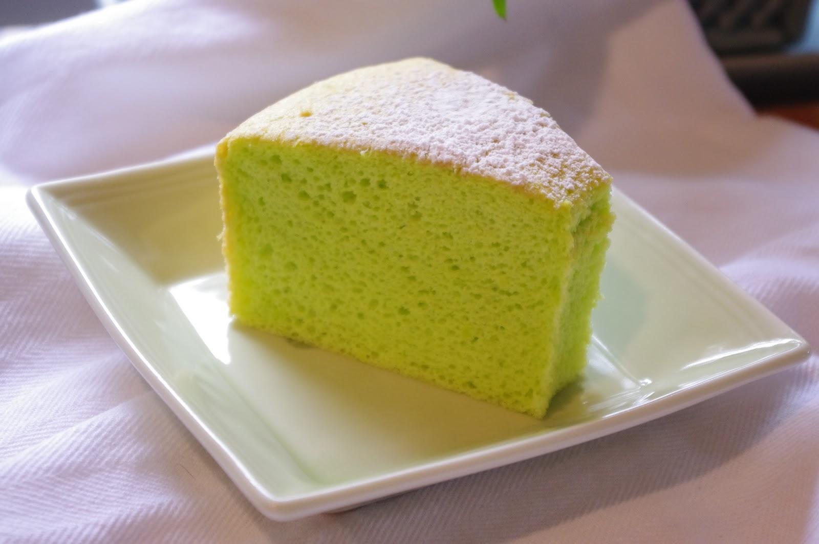 foodesign: pandan chiffon cake