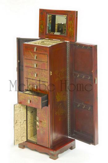 muebles chinos en piel decorada