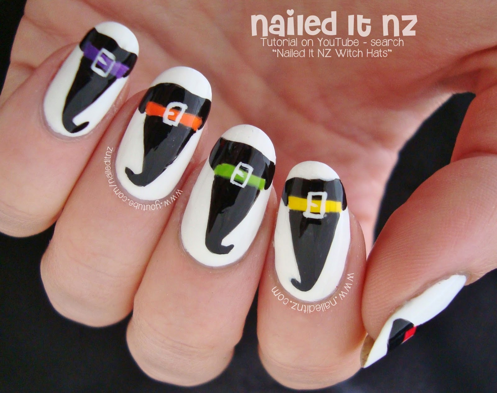 Exceptionnel Witch Hat Nail Art for Halloween! OZ86