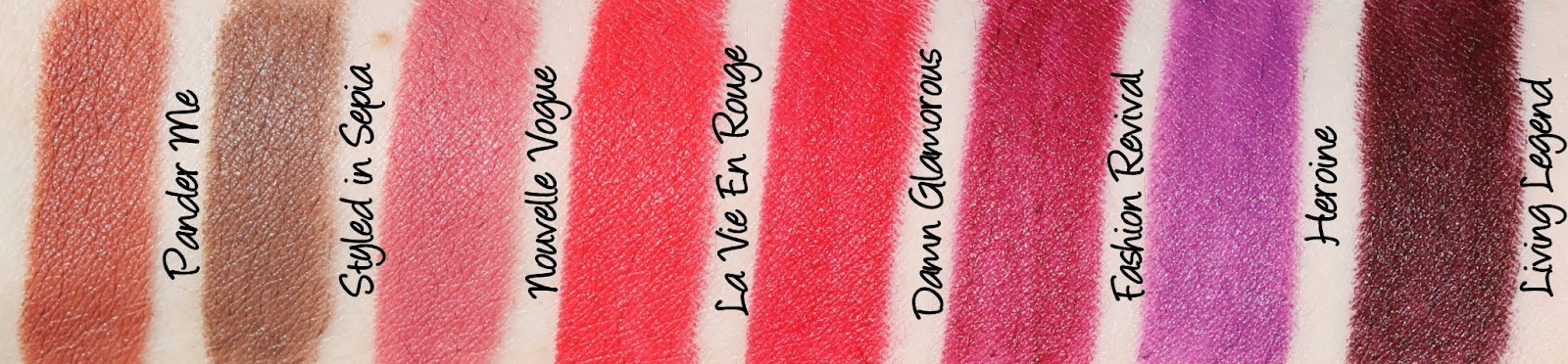MAC Monday: The Matte Lip Lipsticks Swatches & Review