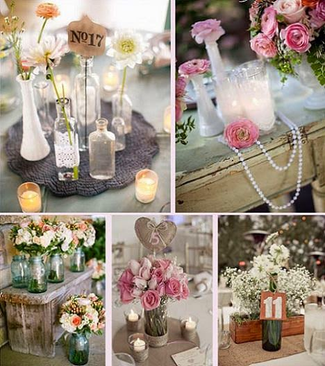 Decoracion de fiestas decoracion campestre para 15 a os y for Centro de mesa boda campestre