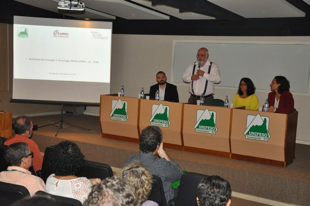 """O UNIFESO sediou o """"I Seminário de Inovação e Tecnologia: Apresentando o INOVA-SERRA-RJ-FESO"""""""