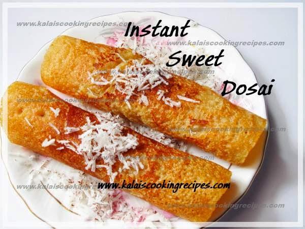 Instant Sweet Jaggery Coconut Dosai | Inippu Vellam Thengai Dosai
